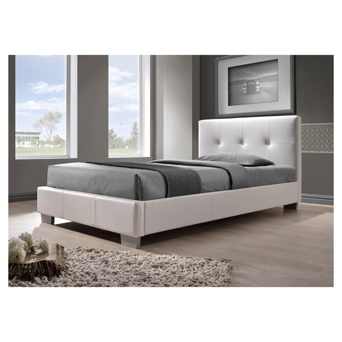 Wade Logan Ayana Upholstered Platform Bed U0026 Reviews   Wayfair