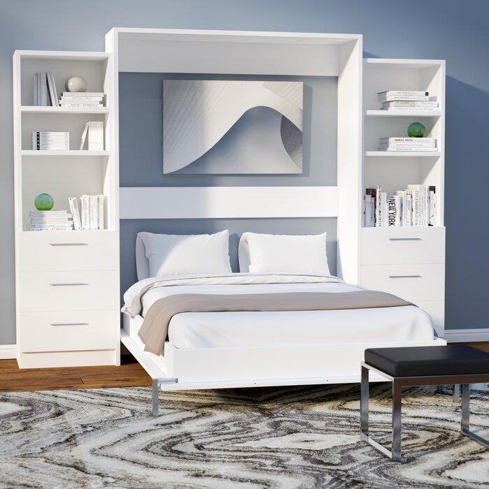 wade logan lower weston murphy wall bed & reviews | wayfair