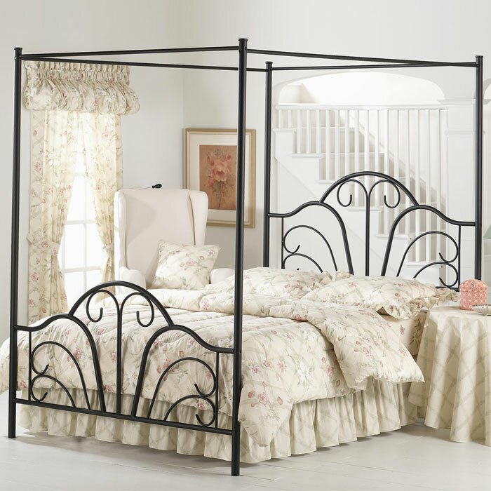 Canopybed lark manor aksel canopy bed & reviews | wayfair