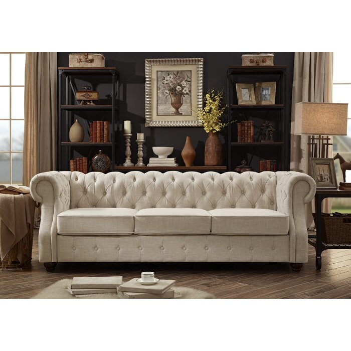 Mulhouse Furniture Olivia Tufted Chesterfield Sofa & Reviews | Wayfair