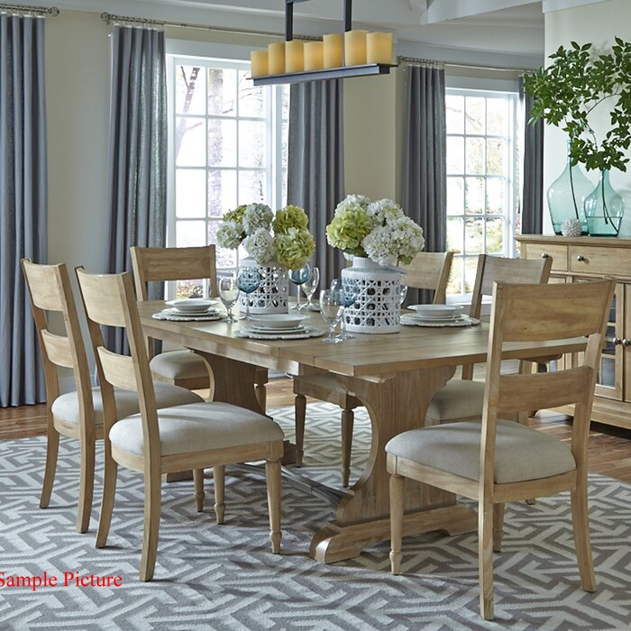 Lark Manor Bleau Trestle Dining Table & Reviews | Wayfair