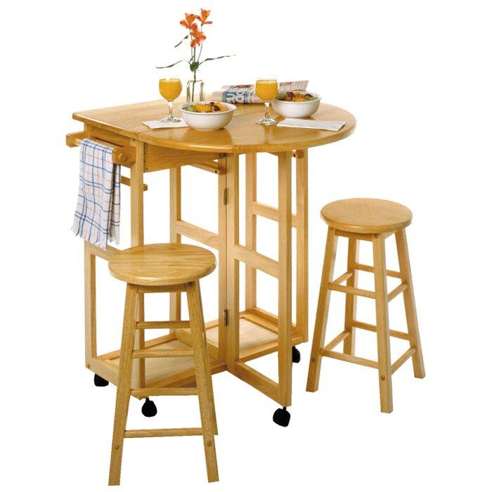 Beachcrest Home Wynyard 3 Piece Dining Table Set Reviews Wayfair
