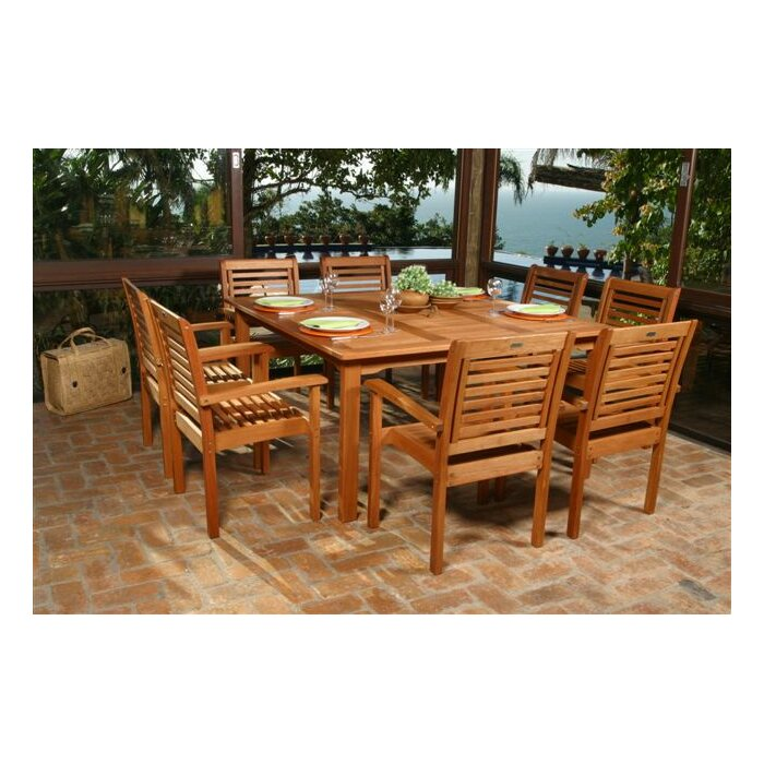 9 Piece Austin Patio Dining Set   Reviews   Joss   Main. Outdoor Dining Sets Austin. Home Design Ideas