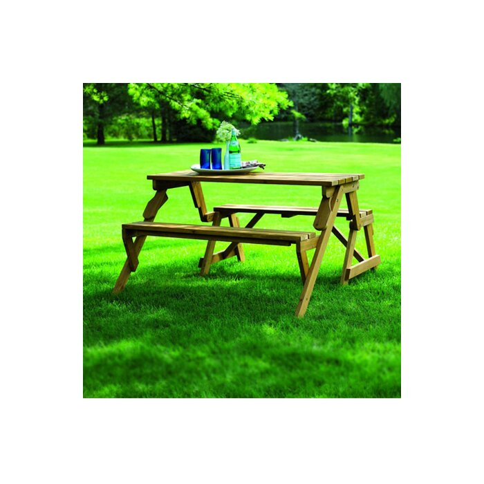 Garden Bench Table Part - 45: Loon Peak Luxton Convertible Wood Picnic Table U0026 Garden Bench U0026 Reviews |  Wayfair