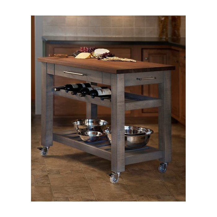 martins homewares metro mobile kitchen island with solid walnut top reviews wayfair. Interior Design Ideas. Home Design Ideas