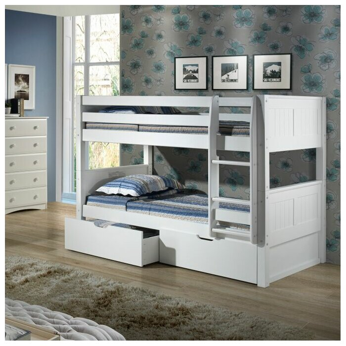 Twin Bunk Beds With Storage Part - 21: Viv + Rae Isabelle Twin Bunk Bed With Storage U0026 Reviews | Wayfair
