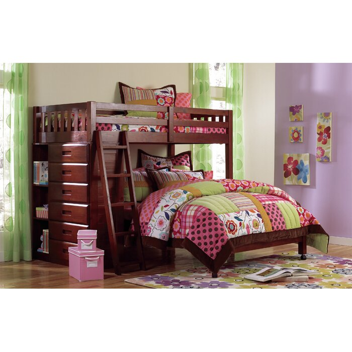 kaitlyn lshaped twin over full bunk bed - Twin Bed With Mattress Included