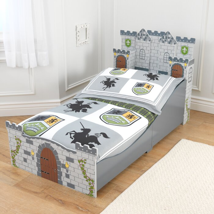 medieval castle toddler platform bed