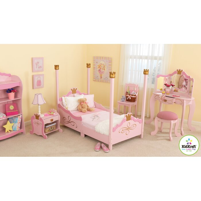 toddler girl bedroom sets. KidKraft Princess Toddler Four Poster Configurable Bedroom Set  Reviews Wayfair