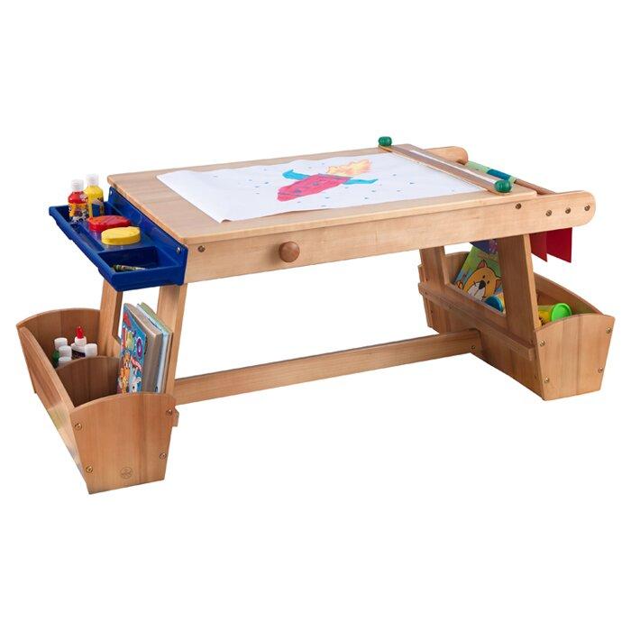 Kidkraft Drying Rack And Storage Kids Arts Crafts Table Reviews Wayfair