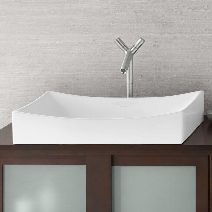 Ronbow Bathroom Sinks ronbow status rectangular vessel bathroom sink & reviews | wayfair