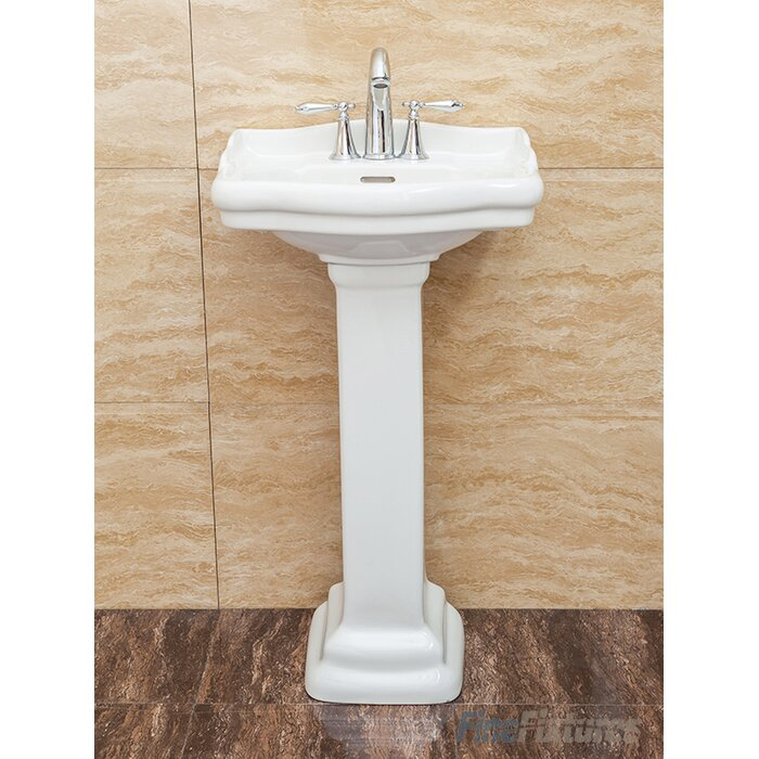 Fine Fixtures Roosevelt Pedestal Bathroom Sink With Overflow Reviews Wayfair