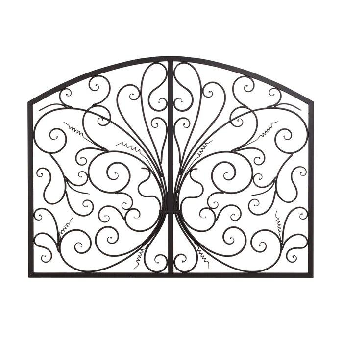 Metal Scroll Wall Decor bayaccents metal scroll complex panel wall decor & reviews | wayfair