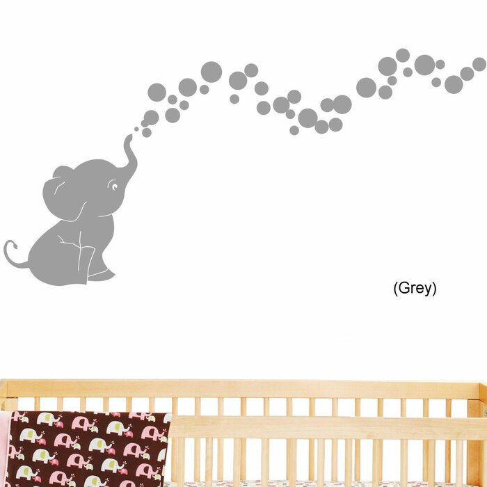 DecaltheWalls Elephant Bubbles Nursery Room Removable Wall Decal U0026 Reviews  | Wayfair Part 80