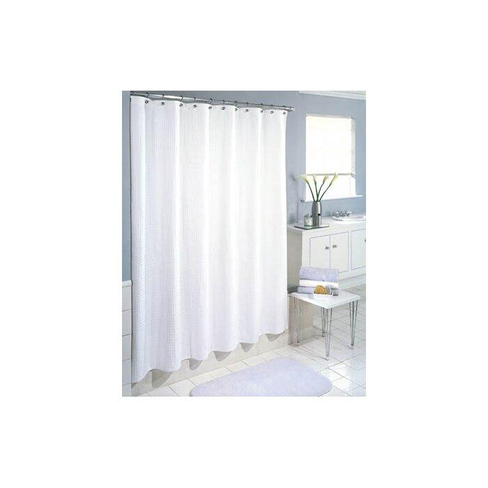 Symple Stuff Cotton Waffle Weave Shower Curtain & Reviews | Wayfair