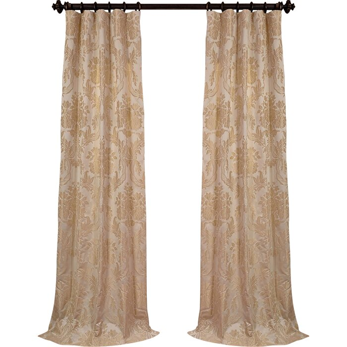Astoria Grand Ballsallagh Faux Silk Jacquard Single Curtain Panel