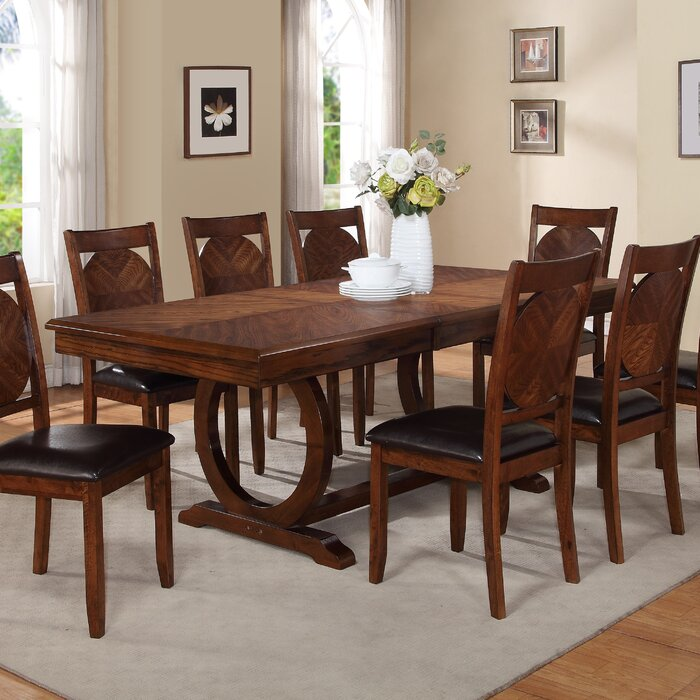 Expandable Dining Room Tables world menagerie kapoor extendable dining table & reviews | wayfair