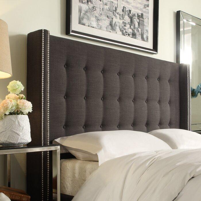 mercer™ rouse upholstered wingback headboard  reviews  wayfair, Headboard designs