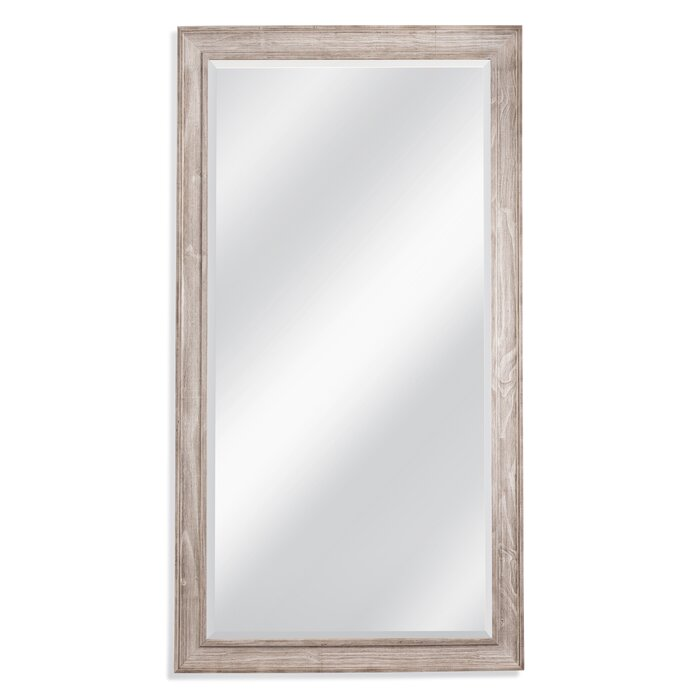 White Wash Leaner Full Length Mirror