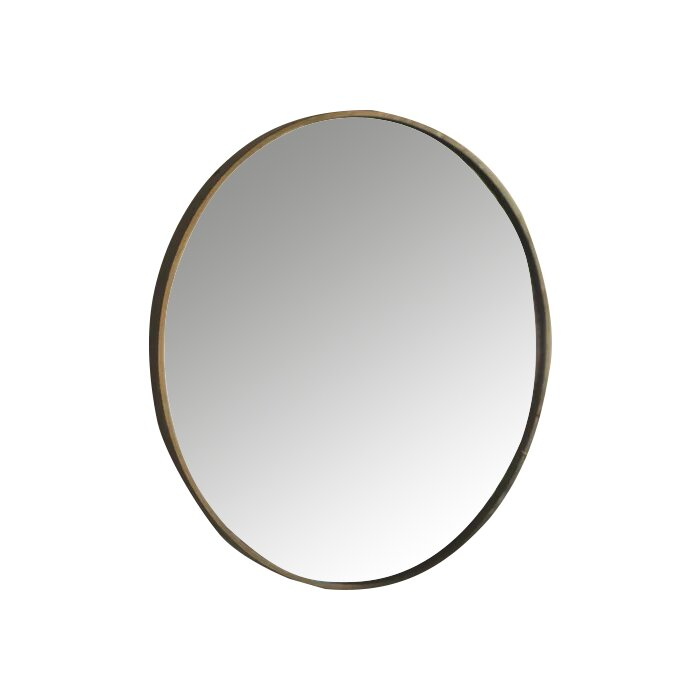 Macdougall Round Metal Framed Accent Mirror