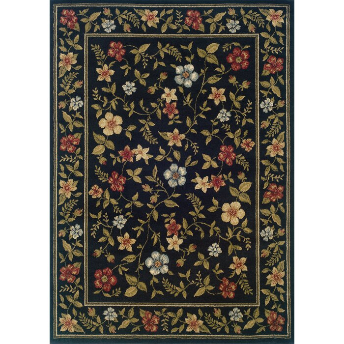 Black And Green Area Rugs charlton home albrightsville black/green area rug & reviews | wayfair