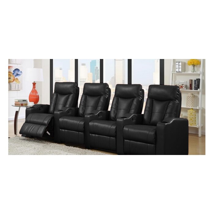 Latitude Run Home Theater Leather Recliner (Row of 4) \u0026 Reviews | Wayfair  sc 1 st  Wayfair : leather theater recliner - islam-shia.org