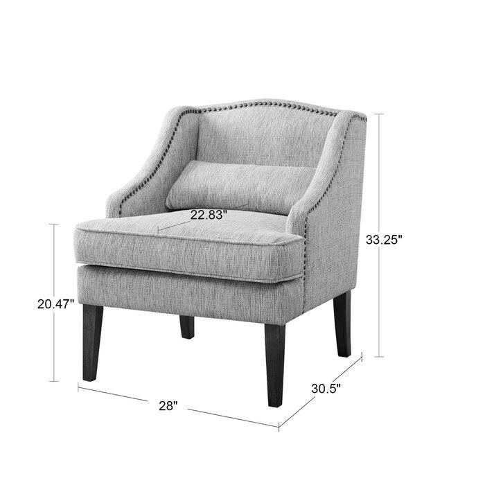 Latitude Run Burgess Swoop Arm Accent Chair U0026 Reviews | Wayfair