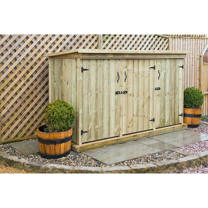 the garden village 7 x 3 wooden garden shed wayfaircouk