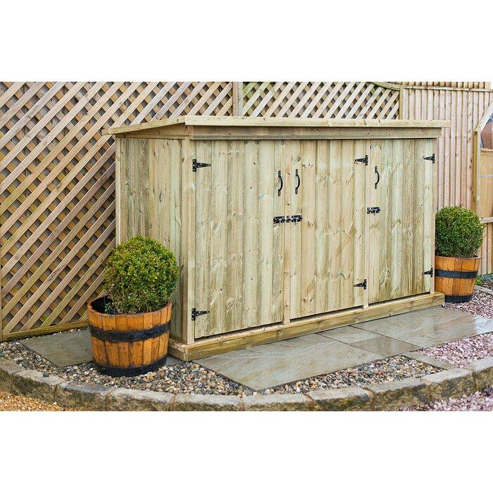 the garden village 7 x 3 wooden garden shed wayfaircouk