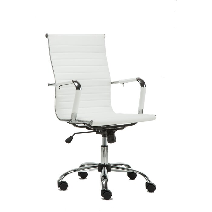 famiscorp high-back leather office executive chair & reviews | wayfair