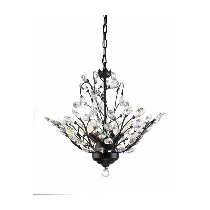 Copper chandeliers youll love wayfair wallenstein leaves 4 light led mini chandelier aloadofball Gallery