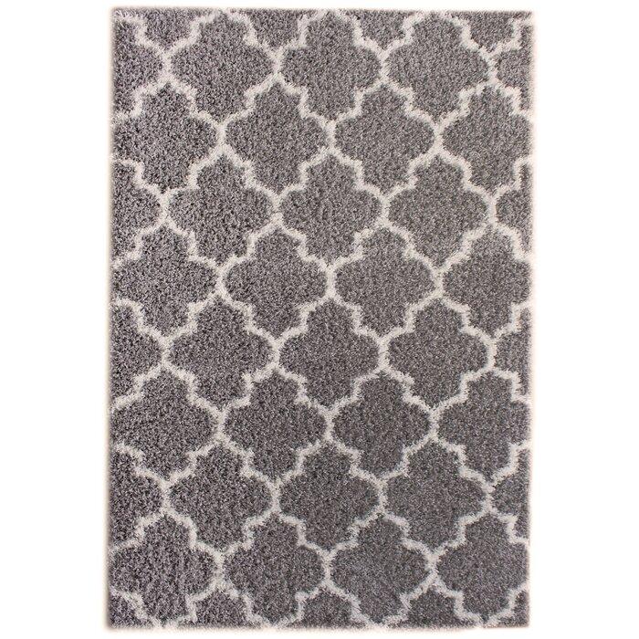 Rosdorf Park Sampson Gray/White Area Rug U0026 Reviews | Wayfair