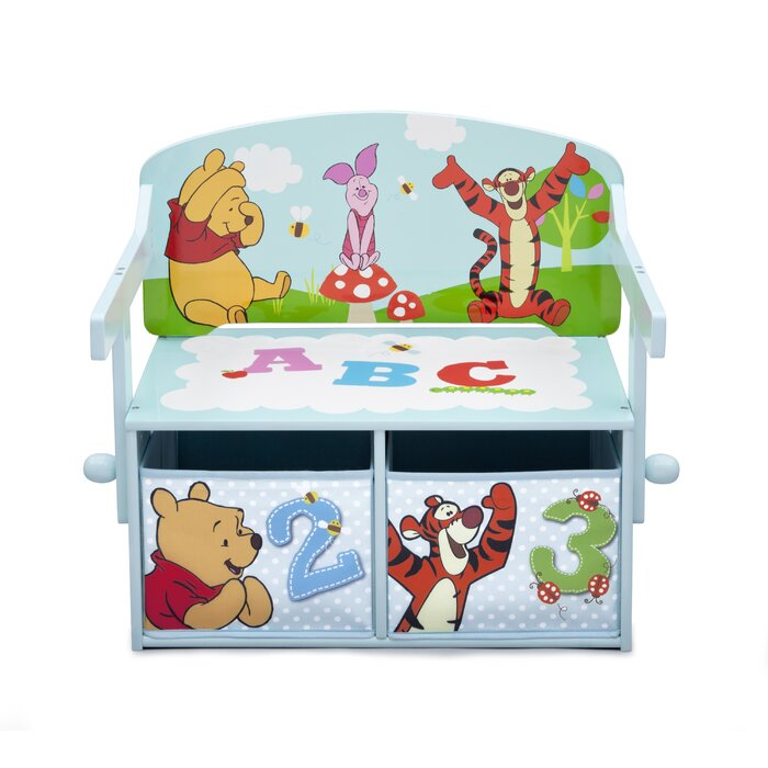 DeltaChildren Winnie The Pooh Toy Storage Bench U0026 Reviews | Wayfair.co.uk