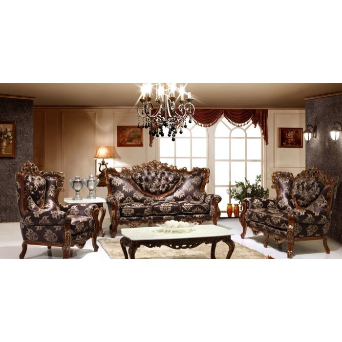 joseph louis home furnishings 3 piece living room set & reviews