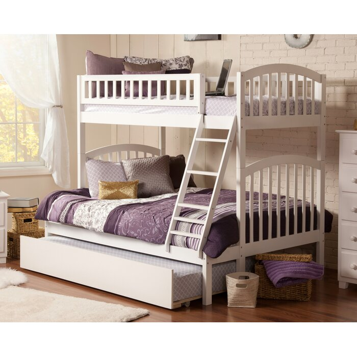 richland twin over full bunk bed by atlantic furniture