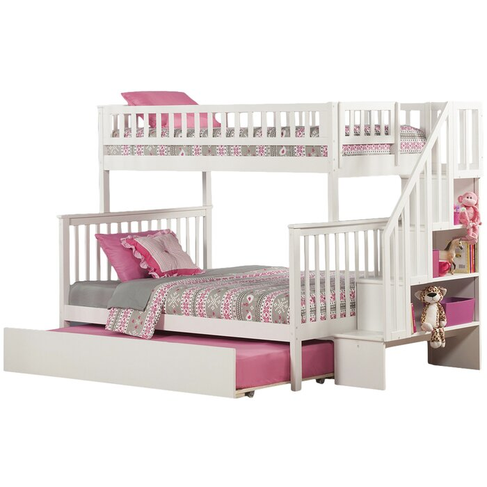 shyann twin over full bunk bed with trundle