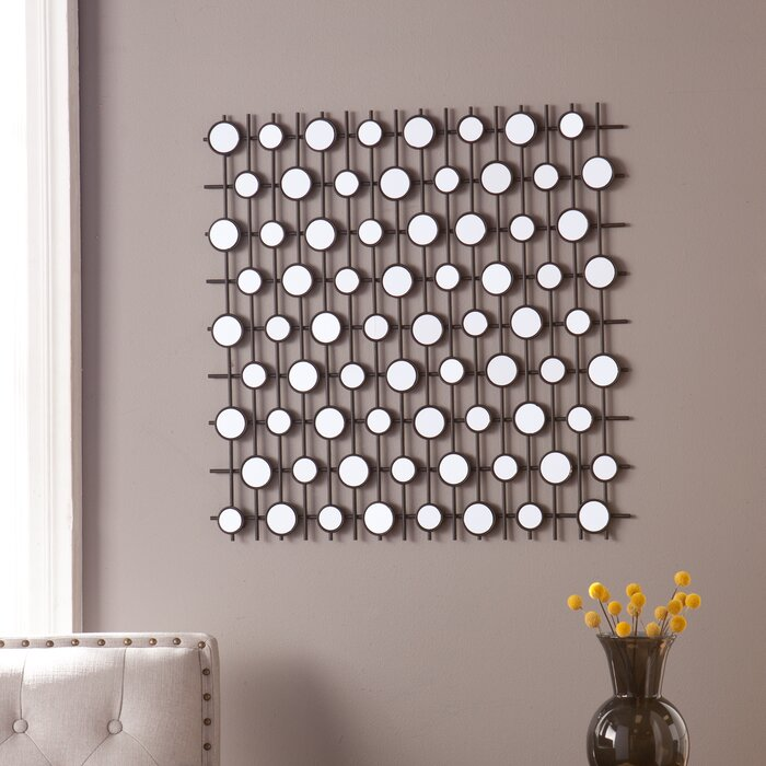 Mirror Wall Sculpture harriet bee kerrie geometric wall sculpture mirror & reviews | wayfair