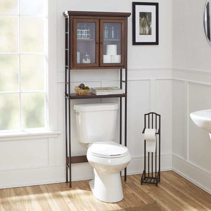 "Darby Home Co Andes 3-Tier 25.5"" W x 67.5"" H Over the Toilet Storage & Reviews 