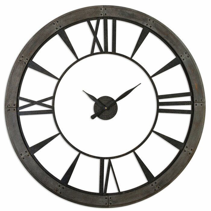 Rowan Round Oversized Wall Clock Reviews Joss Main