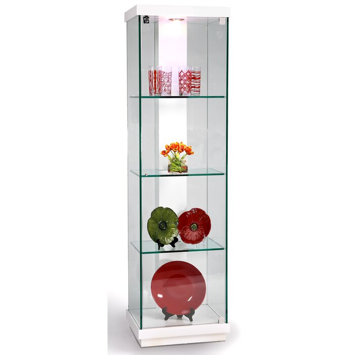 Chintaly Lighted Curio Cabinet & Reviews   Wayfair