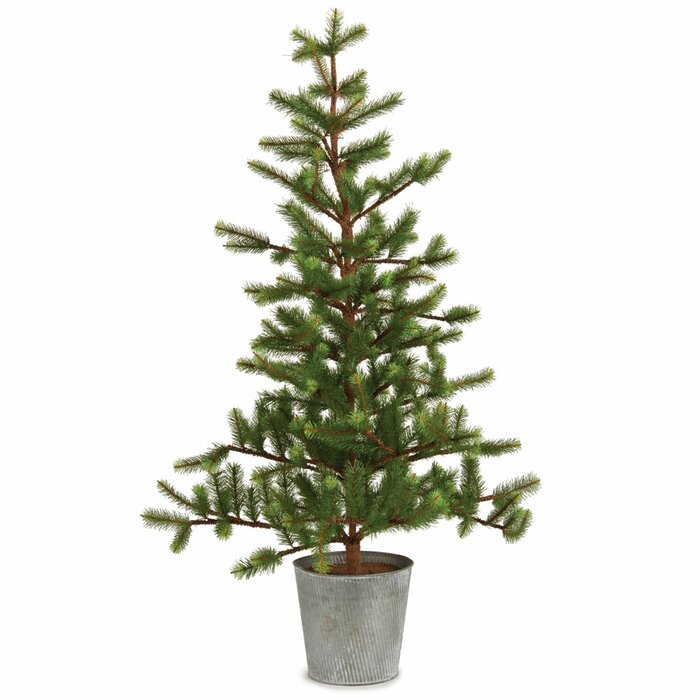 36 green fir trees artificial christmas tree in tin pot reviews joss main - Christmas Trees Fake