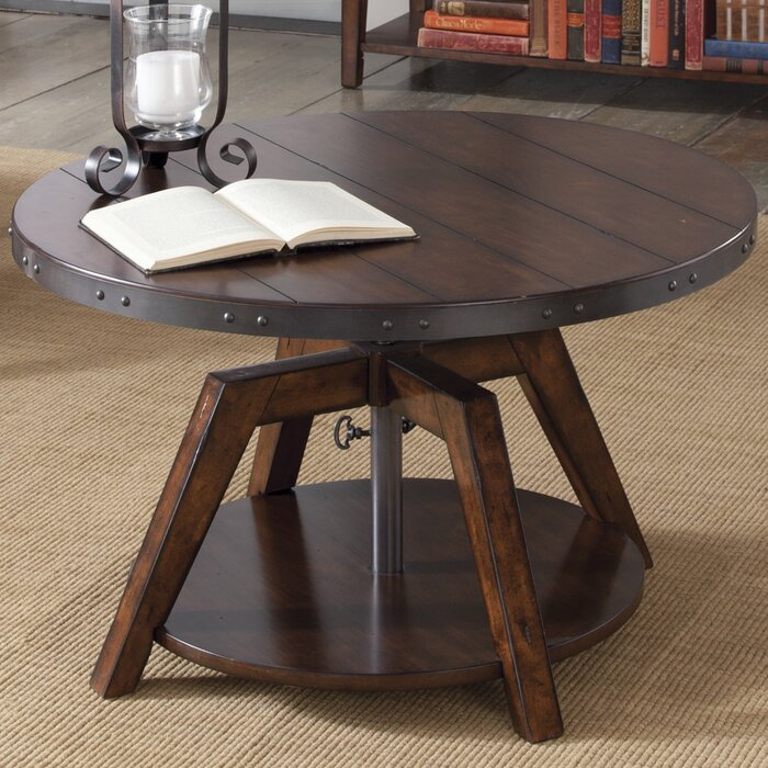 height of coffee table