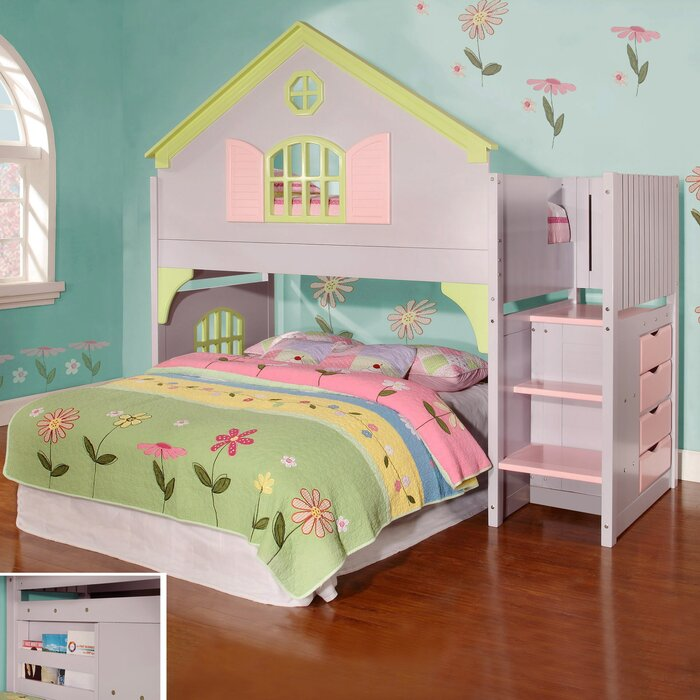 discovery world furniture dollhouse loft twin bunk bed reviews wayfair - Loft Twin Bed Frame