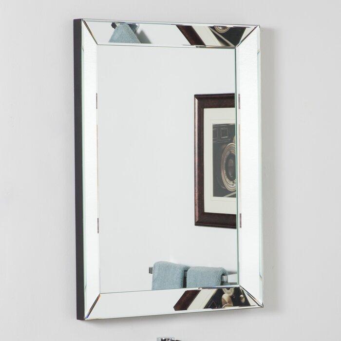 Vanity Wall Mirrors wade logan rectangle silver vanity wall mirror & reviews | wayfair