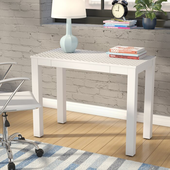 White wood desks