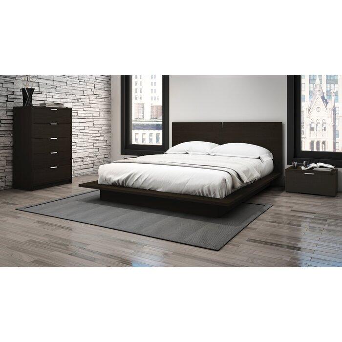 wade logan allendale queen platform customizable bedroom set reviews. Black Bedroom Furniture Sets. Home Design Ideas