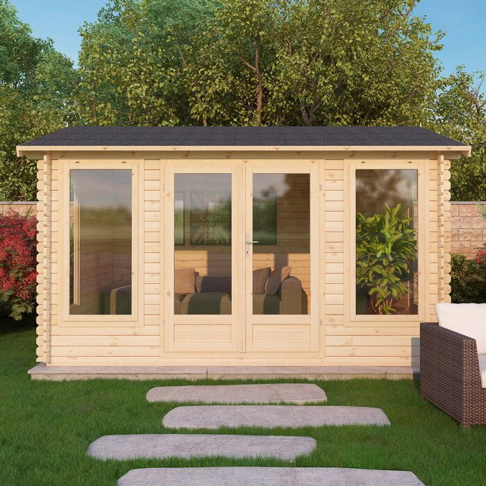 Home Essence Home Office Director 16 x 13 Ft Log Cabin Wayfair