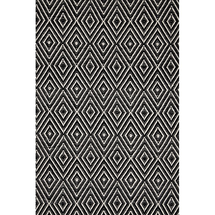 Dash and Albert Rugs Hand-Woven Black Indoor/Outdoor Area Rug ...