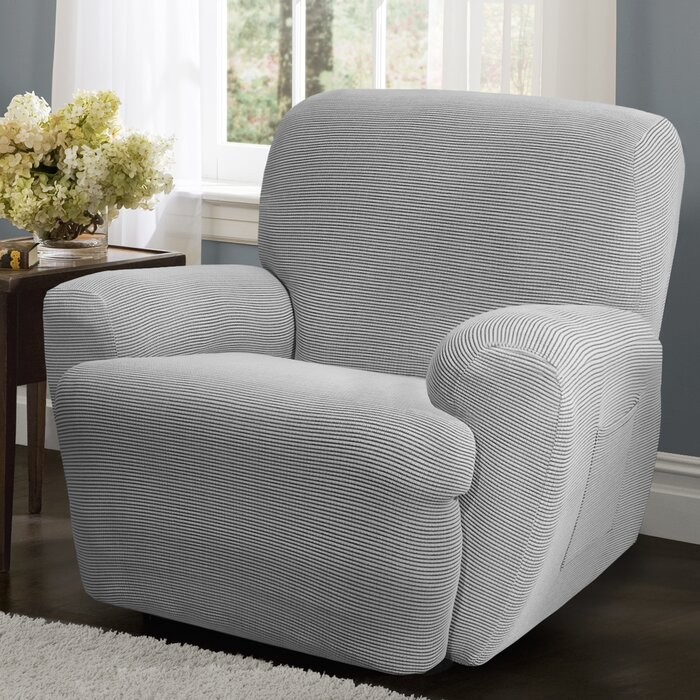 Maytex Connor 4 Piece Stretch Polyester Recliner Slipcover Set