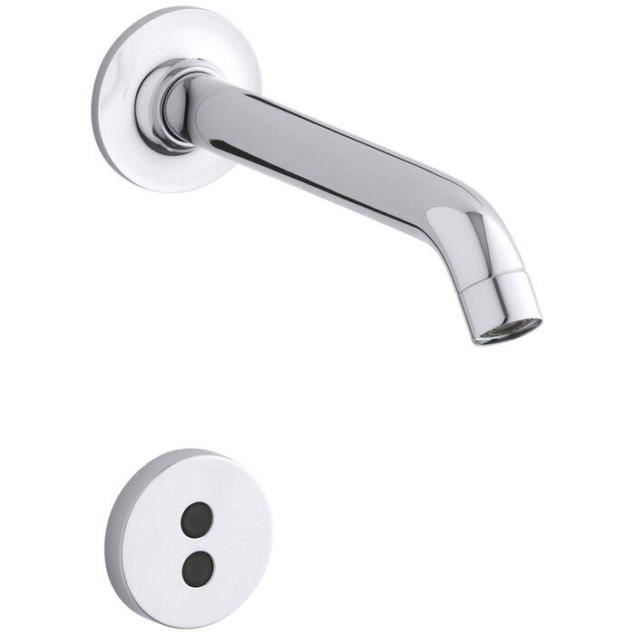 kohler purist wallmount touchless faucet trim with 35 degree spout wayfair - Kohler Purist